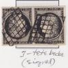 Grill Annuler sur CERES #T3, Tete-Beche paire, signe avec certificat