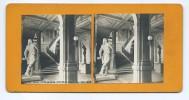 Vues Stéréoscopiques Photo Sur Carton - Reims - Hotel De Ville - Statue De Rouget De L´isle - Photos Stéréoscopiques