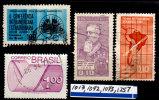 Brazil 1965-75, Miscellaneous, Scott #1013, 1092, 1093, 1251, Used, LH & NH, VF - Brazil