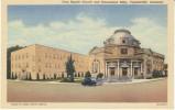 Fayetteville Arkansas, First Baptist Church & Educational Building, Religion, C1950s Vintage Curteich Linen Postcard - Fayetteville