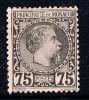 Charles III   75 Cent Yv 8  (*)  Neuf Sams Gomme - Monaco