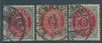 Danimarca 1875 Usato - Mi.25 X3 SCAN - 1864-04 (Christian IX)