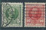 Danimarca 1904 Usato - Mi.47; 48  SCAN - 1864-04 (Christian IX)