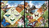 SOLOMON Isl. 2013 - Butterflies. Australian Fauna - YT 1731-4 + BF190; CV = 27 € - Vlinders