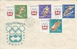 Letter FI000027 - Hungary To Germany 1964 Teli Olimpia Innsbruck - Ungheria