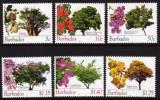 BARBADOS - 2010 - Flore, Arbres Et Leurs Fleurs, Réimpression Série Courante Avec 2010 - 6 Val Neufs // Mnh - Barbades (1966-...)