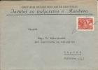 Letter FI000064 - Yugoslavia Slovenia To Croatia Institut Za Sadjarstvo Maribor - Ohne Zuordnung