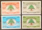 11 Lebanon 1968 SG 1027-1030 Third World Lebanese Union Congress - Complete Set MNH - Lebanon