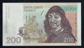 """200 F Frankreich"", Entwurf, Beids. Druck, RRRR, UNC, Ca. 144 X 78 Mm, Essay, Trial, UV, Wm, Serial No., Intaglio - Fiktive & Specimen"