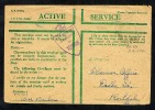 GB 194? Green Active Service OAS Cover Censor10586 FPO 830 (T598) - Postmark Collection