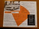ANCIEN FEUILLET FICHE TECHNIQUE SIMCA ARIANE  1958 SALON AUTO VOITURE AUTOMOBILE GARAGE REPARATION - Non Classés
