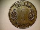Islande 1 Krona 1966 - Iceland