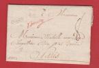 A / Lettre De Bourg   Pour Paris    --  1755 - Postmark Collection (Covers)