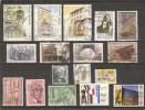 ARCHITECTES - Petit Lot De 17 Timbres Différents - Architecture, Corbusier, Wright, Van De Velde, ... - Alla Rinfusa (max 999 Francobolli)