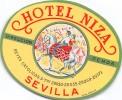 "02647 ""HOTEL NIZA - SEVILLA""  ETIC. ORIG. - LUGGAGE LABEL - Hotel Labels"