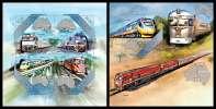 SOLOMON Isl. 2013 - Australian Trains - YT 1767-70 + BF199; CV = 27 € - Salomoninseln (Salomonen 1978-...)