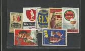 7 étiquettes Boites D'allumettes Anciennes Publicité BIERE - Matchbox Labels