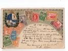 URUGUAY  Montevideo  Stamp On Stamp Zieher TARJETA POSTAL  Ca1900 POSTCARD Cpa Ak (W4_1674) - Uruguay