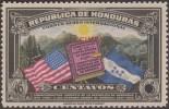 Honduras 1937 Y&T PA 79. Perforé & Surchargé Specimen. Constitution Des États-Unis. Montagnes, Stars And Stripes Soleil - Stamps