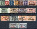 MEMEL 1920-22  Surcharges On France Set  Of 16 Used.  Michel 18-33 - Klaipeda