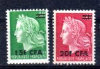 CFA REUNION 384 385 MARIANNE DE CHEFFER ** MNH LUXE Sans Charnière - Reunion Island (1852-1975)