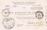 15416. Tarjeta Dienstpostkaart GAND (Belgien) 1893. Administration Flandes Or. - Bélgica