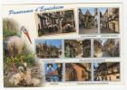{41798} 68 Haut Rhin Panorama D' Eguisheim , Multivues ; Place Saint Léon , Enseigne , Vieux Pigeonnier , Maisons - France
