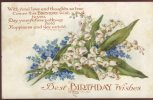 Art And Humour Publishing Postcard, Best  Birthday Wishes, 1148 - Compleanni