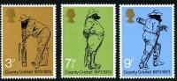 GB 1973 CRICKET SET OF 3 SG 928-30 MI 621-23 SC 694-96 IV 684-686 - 1952-.... (Elizabeth II)