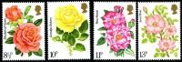 GB 1976 CENTENARY OF ROYAL NATIONAL ROSE SOCIETY SET OF 4 SG 1006-09 MI 711-14 SC 786-89 IV 795-98 - 1952-.... (Elizabeth II)