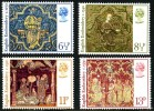 GB 1976 CHRISTMAS. ENGLISH MEDIEVAL EMBROIDERY SET OF 4 SG 1018-21 MI 723-26 SC 798-801 IV 807-10 - 1952-.... (Elizabeth II)
