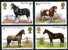 GB 1978 HORSES SET OF 4 SG 1063-66 MI 769-72 SC 839-42 IV 868-71 - 1952-.... (Elizabeth II)