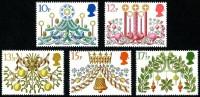 GB 1980 CHRISTMAS SET OF 5 SG 1138-1142 MI 856-60 SC 928-932 IV 959-963 - 1952-.... (Elizabeth II)