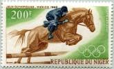 N° Yvert 93 - Timbre De La République Du Niger (Poste Aérienne) (1968) - MNH - JO De Mexico - Équitation (JS) - Niger (1960-...)