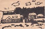 AK Häuser Und Wald - Linolschnitt (?) - Ca. 1910  (19472) - Ohne Zuordnung