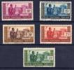 AEF 1937-38: N°37/40 I + 57 Tous * (YT37/40 + 42) - TB - A.E.F. (1936-1958)