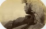 Suisse Le Train Dans Le Col Du Brunig Chemin De Fer Montagne Ancienne Photo 1880 - Photographs
