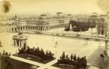 France Paris Le Nouveau Louvre Panorama Ancienne Photo Albumine Champagne 1880
