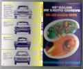 45-e SALON DE L'AUTO GENEVE 13-23 Mars 1975 - Catalogue Officiel + BILLET DE LOTERIE + ABSCHNITT - Auto's