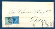 1876 , CÁDIZ , CARTA CIRCULADA ENTRE JEREZ DE LA FRONTERA Y GIJÓN, FECHADOR DE JEREZ - 1875-1882 Royaume: Alphonse XII