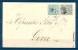 1874 , SEVILLA , ENVUELTA CIRCULADA ENTRE SEVILLA Y GIJÓN, FECHADOR DE SEVILLA , LLEGADA - 1875-1882 Royaume: Alphonse XII