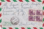 Italia 1950 Lettera Via Aerea Per Australia Democratica 20 Lire X 10,1 Lira E 4 Lire - 6. 1946-.. Republic