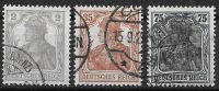 DR 1918 / MiNr.  102 – 104   O / Used  (s136) - Deutschland