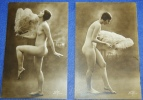 2 Photos Anciennes Format CP  Femme Nue  N° 1  SIC - Desnudos Adultos (< 1960)
