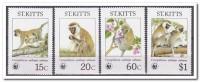 St. Kitts 1986, Postfris MNH, WWF, Animals - St.Kitts En Nevis ( 1983-...)
