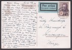 Finland 1936 Red Cross Fund On Postcard To Norway - Briefe U. Dokumente
