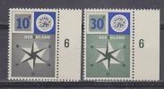Europa Cept 1957 Netherlands 2v (+margin)  ** Mnh (25796) - 1957