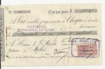 LE MANS CHEQUE J BRUNEAU CULTURE D ARBRES ENVOYE MR BLANCHE JARDINIER A MASLES ORNE ANNEE 1920 - France