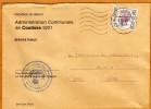 Enveloppe Brief Cover Administration Communale De Coutisse Andenne - Brieven En Documenten