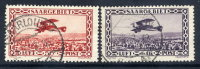 SAAR 1928 Airmail Set Of 2, Used.  Michel 126-27 - 1920-35 League Of Nations